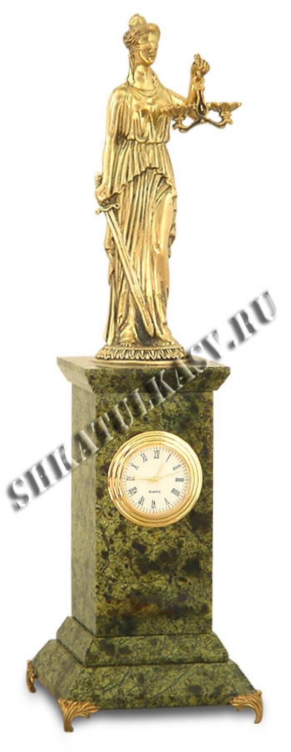 Часы Фемида змеевик
