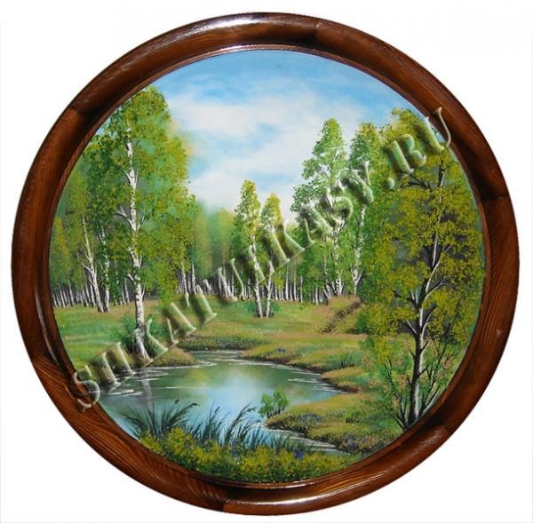 Панно на круге из дерева 15 см