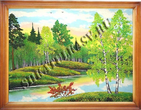 Панно в деревянном багете 45х65 см №6