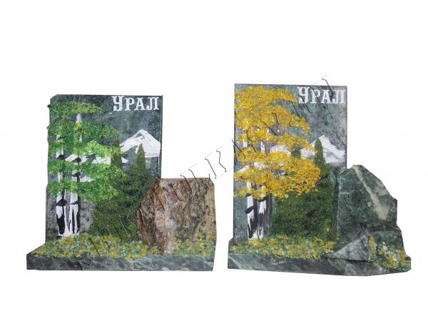 Спил камня Урал с рисунком